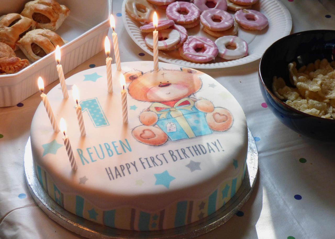 Reubens First Birthday Calamity Cake Beckys Boudoir